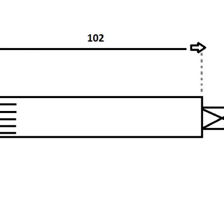 Fusée de roue 102 MM Frein à tambour