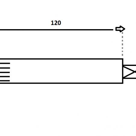 Fusée de roue 120 MM Frein à disque