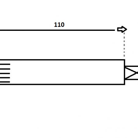 Fusée de roue 110 mm
